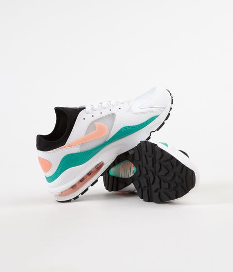 Nike Air Max '93 Shoes - White / Crimson Bliss - Kinetic Green - Black