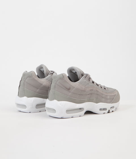 Nike Air Max 95 Premium Shoes - Cobblestone / Cobblestone - White