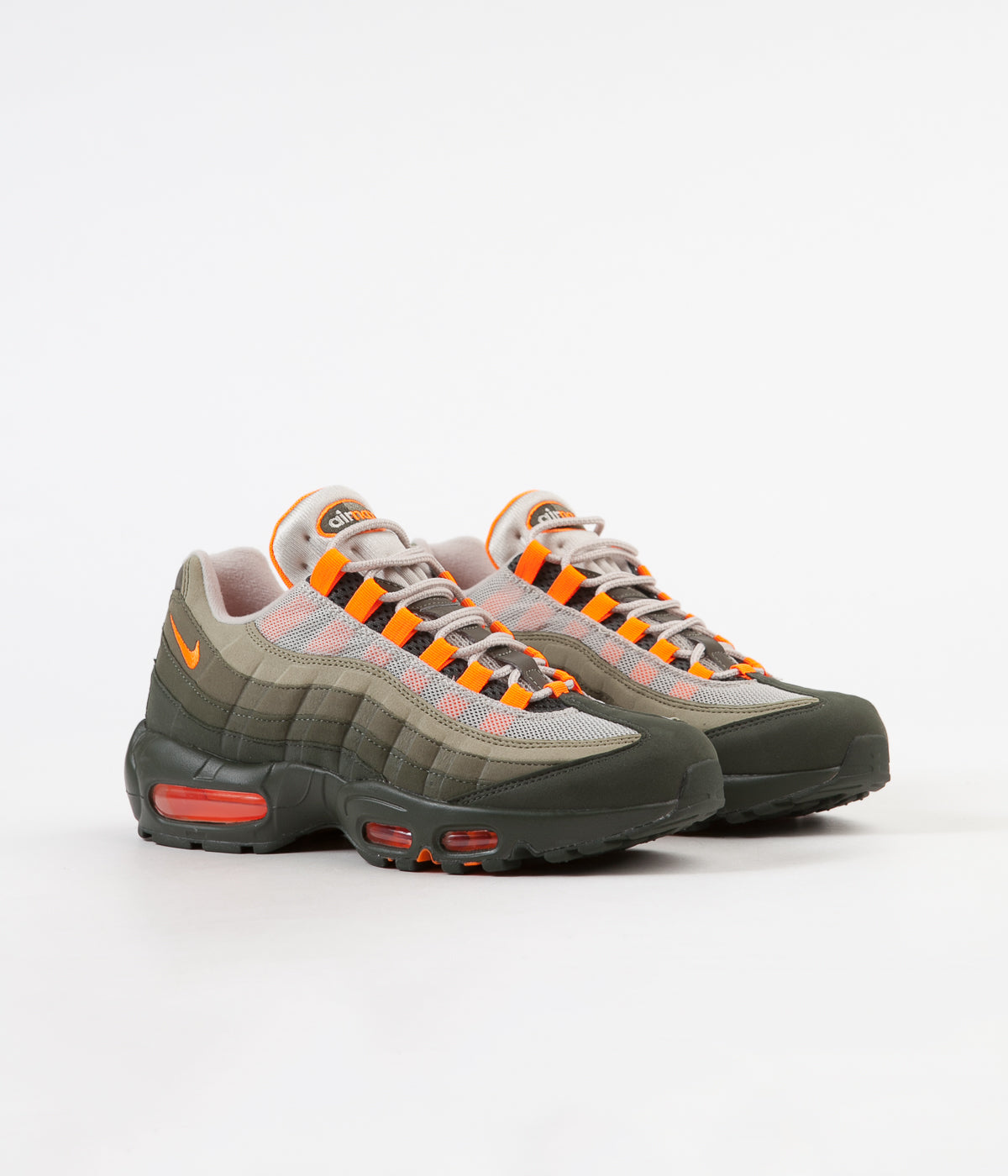 5b287b69b83 Nike Air Max 95 OG Shoes - String Total Orange - Neutral Olive ...