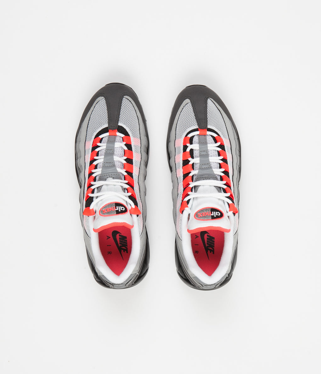 Nike Air Max 95 OG Shoes - White / Solar Red - Granite - Dust