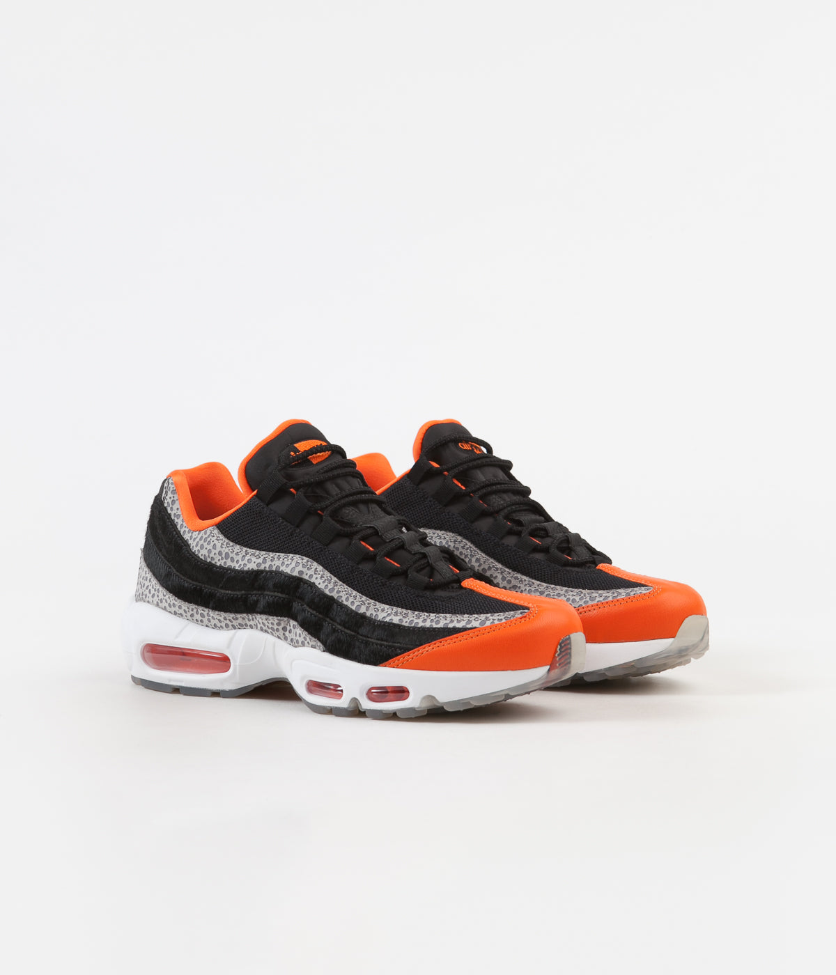 uk availability 02865 157da ... Nike Air Max 95 Shoes - Black   Black - Granite - Safety Orange ...