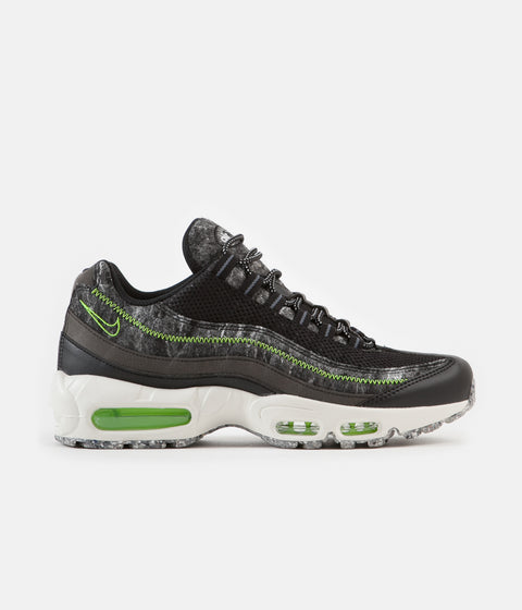 Nike Air Max 95 Shoes - Black / Electric Green - Smoke Grey