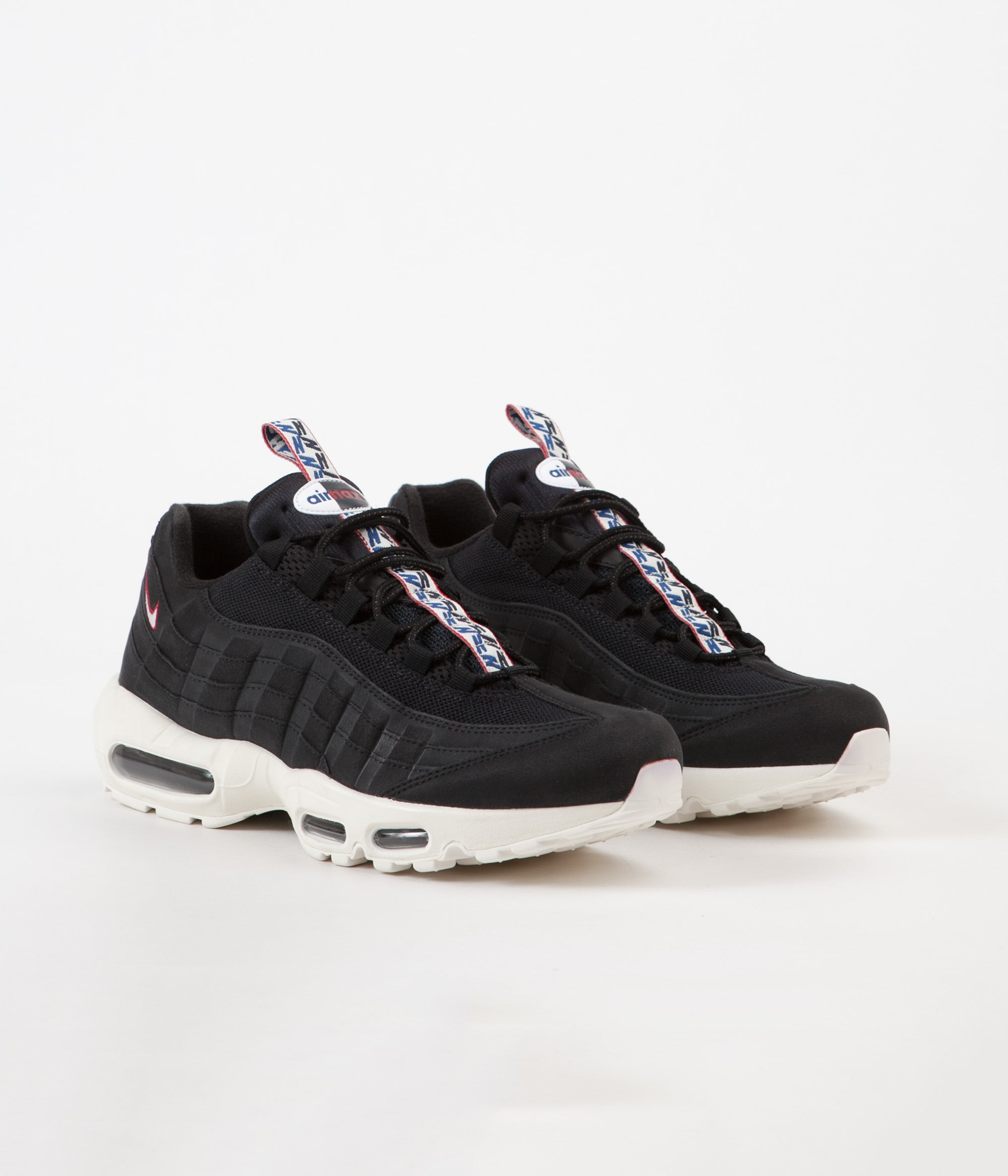 55a4724db7 Nike Air Max 95 TT Shoes - Black / Sail - Gym Red | Always in Colour