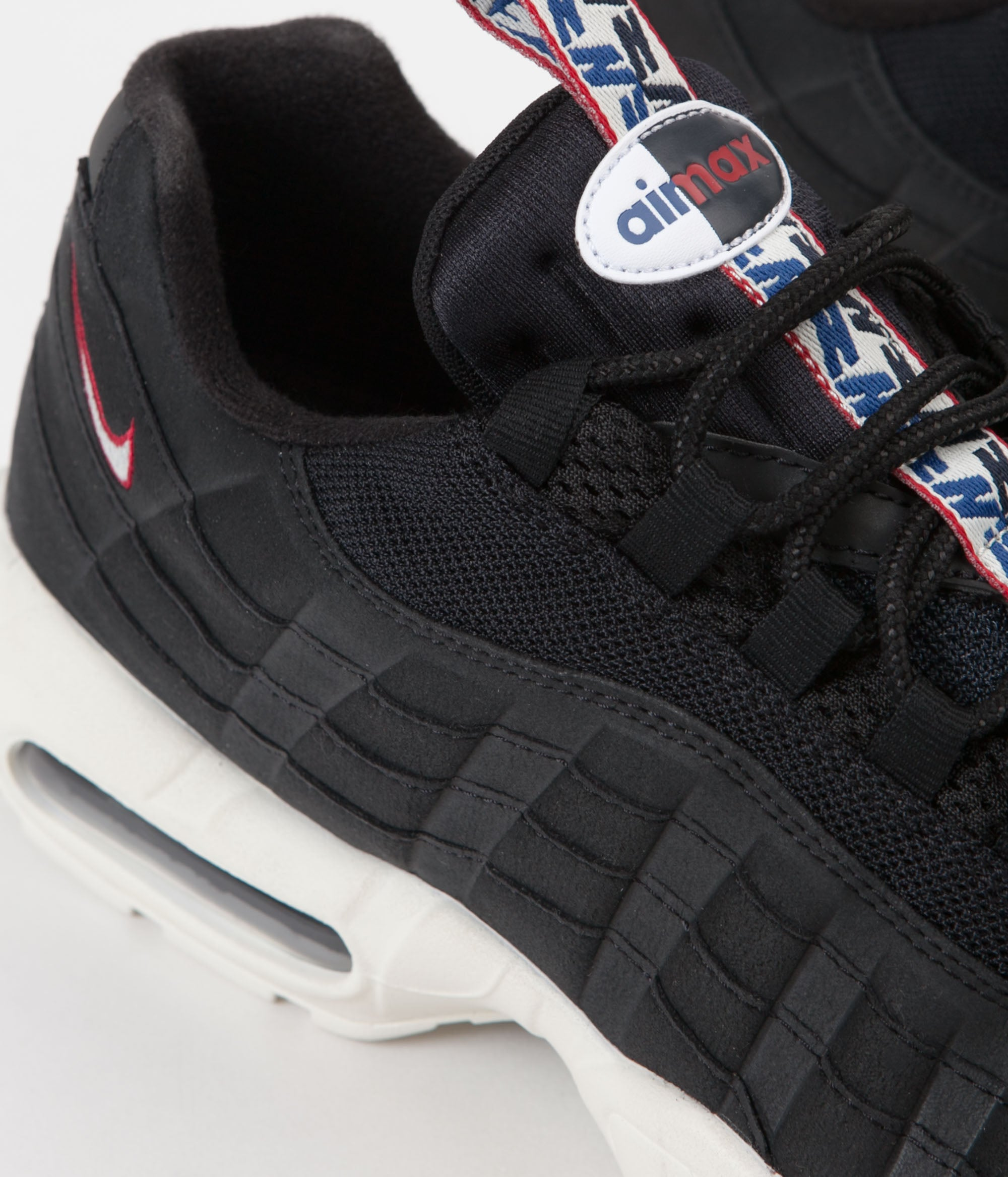 outlet store b9e10 36ac0 Nike Air Max 95 TT Shoes - Black / Sail - Gym Red | Always ...