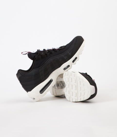 Nike Air Max 95 TT Shoes - Black / Sail - Gym Red