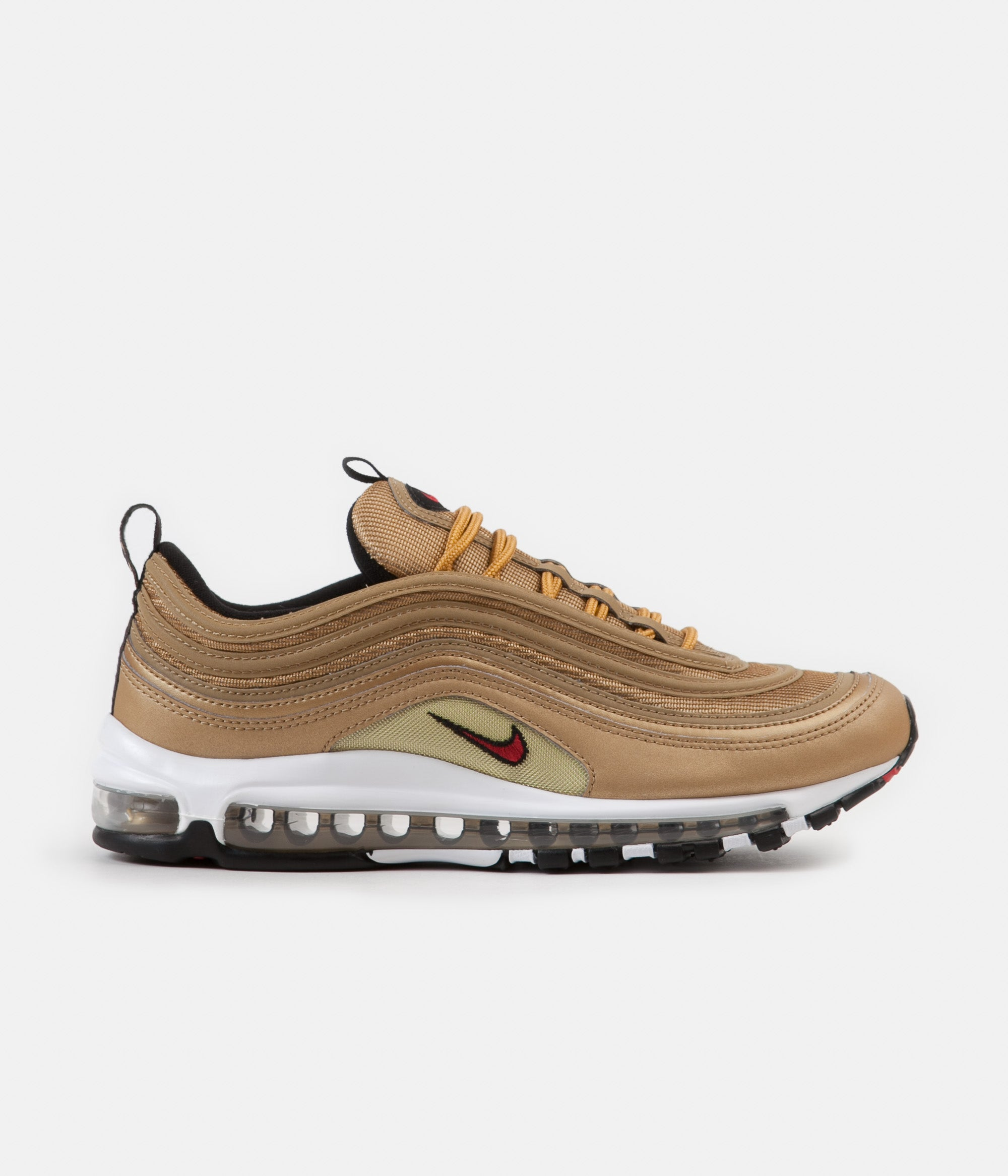 factory authentic 75639 31b3e ... Nike Air Max 97 OG Shoes - Metallic Gold   Varsity Red - White - Black  ...