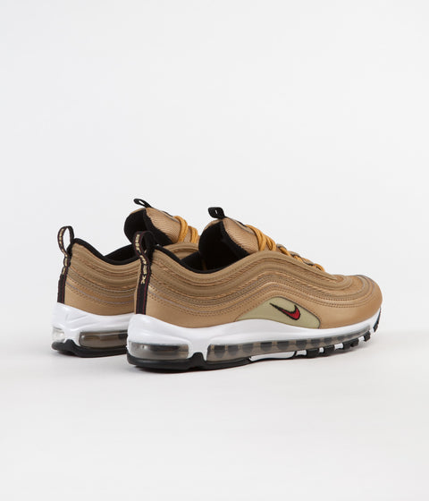 Nike Air Max 97 OG Shoes - Metallic Gold / Varsity Red - White - Black