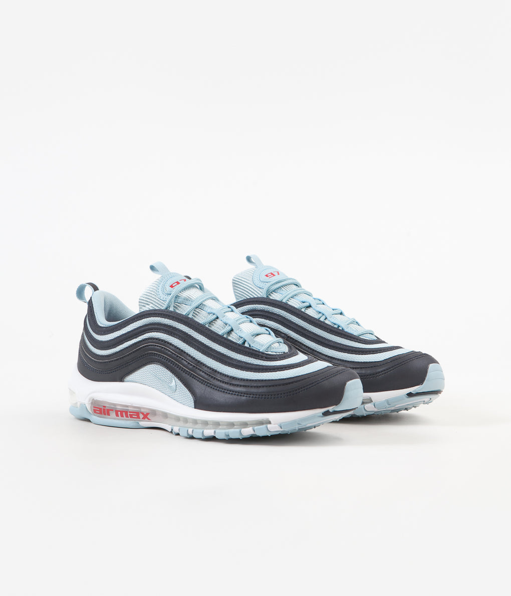 Nike Air Max 97 Premium Shoes - Dark Obsidian / Ocean Bliss - University Red