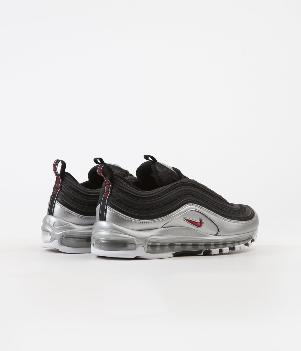 Nike Air Max 97 QS Shoes - Black / Varsity Red - Metallic Silver - White