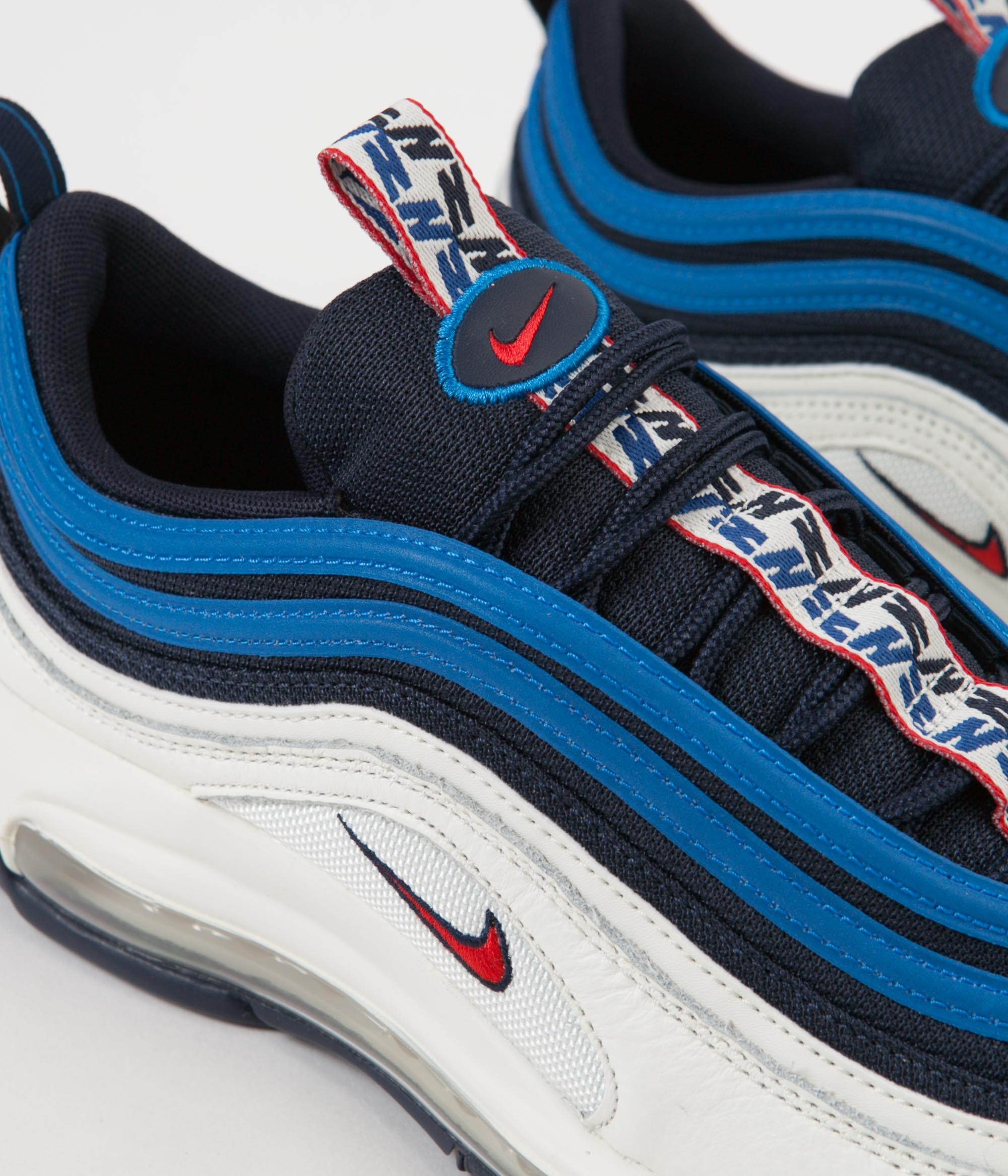 58e498c2e9 ... Nike Air Max 97 SE Shoes - Obsidian / University Red - Sail - Blue  Nebula ...