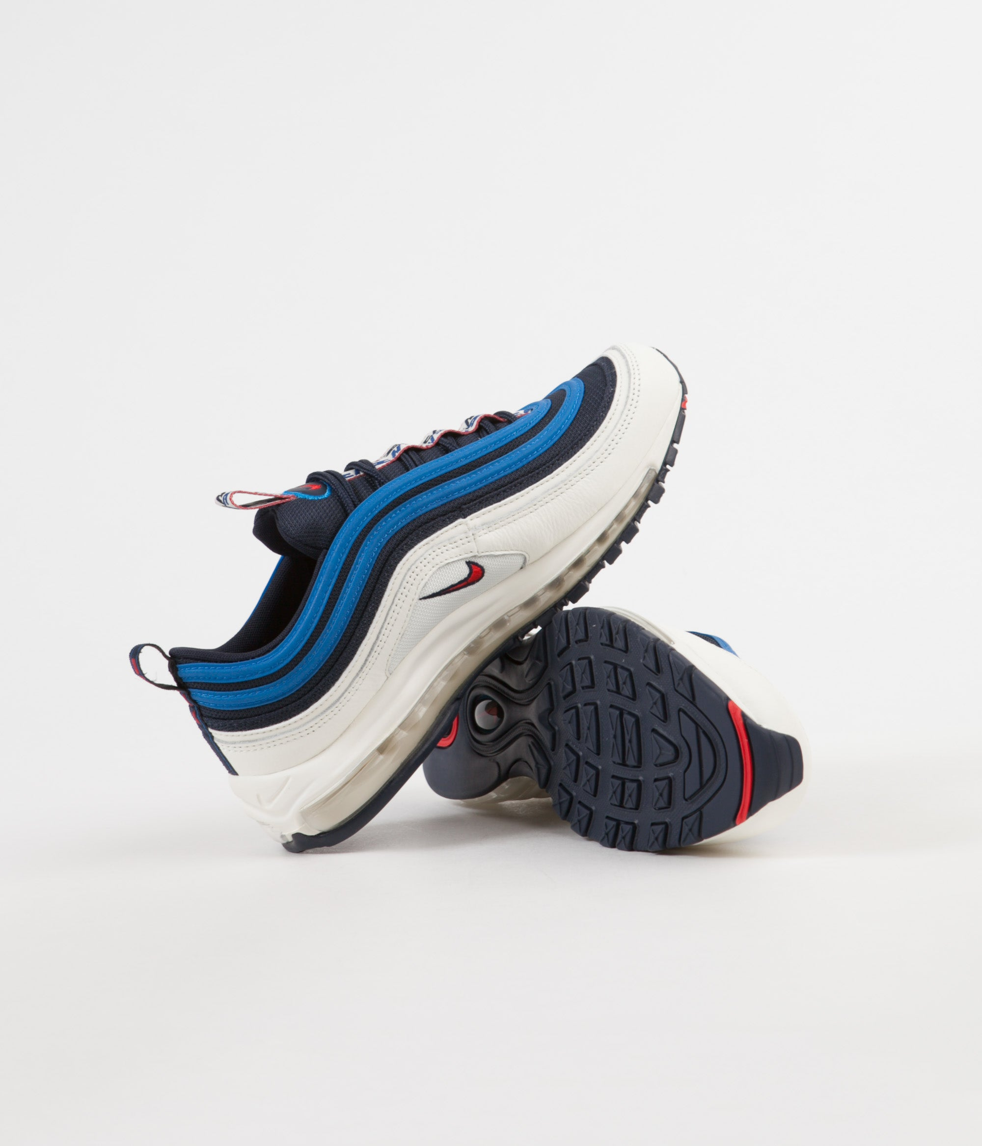 f78e05bfdbc9 ... Nike Air Max 97 SE Shoes - Obsidian   University Red - Sail - Blue  Nebula ...