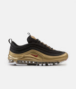 Image for Nike Air Max 97 QS Shoes - Black / Varsity Red - Metallic Gold - White