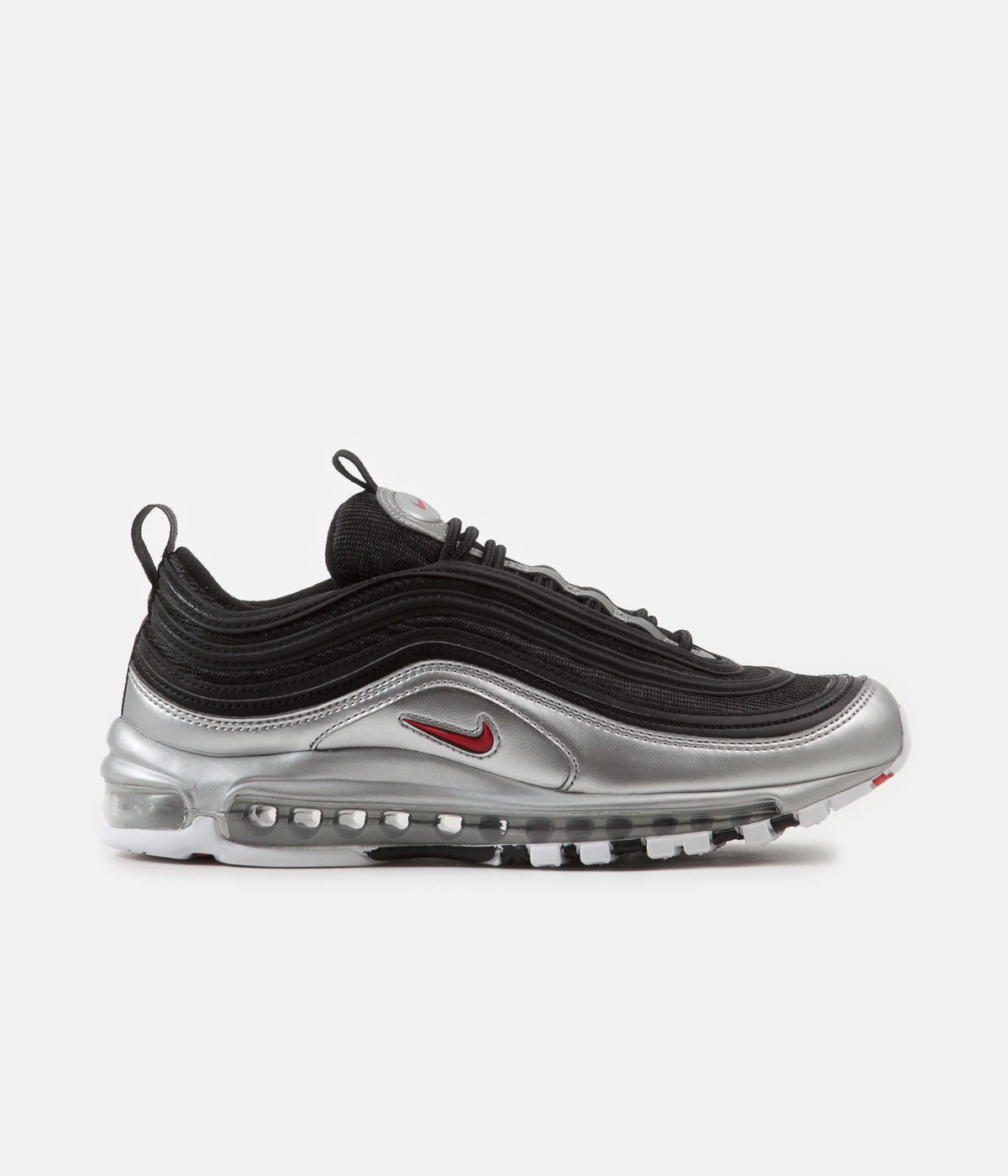 new style 5486a 75ebc ... Nike Air Max 97 QS Shoes - Black   Varsity Red - Metallic Silver - White  ...