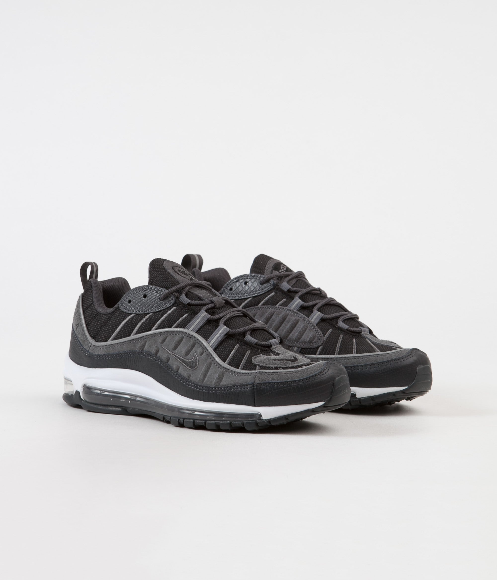 timeless design b10f0 2ca05 ... Nike Air Max 98 SE Shoes - Black  Anthracite - Dark Grey - White ...