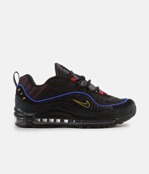 Nike Air Max 98 Shoes - Black   Black - Amarillo - University Red 39cdc6743