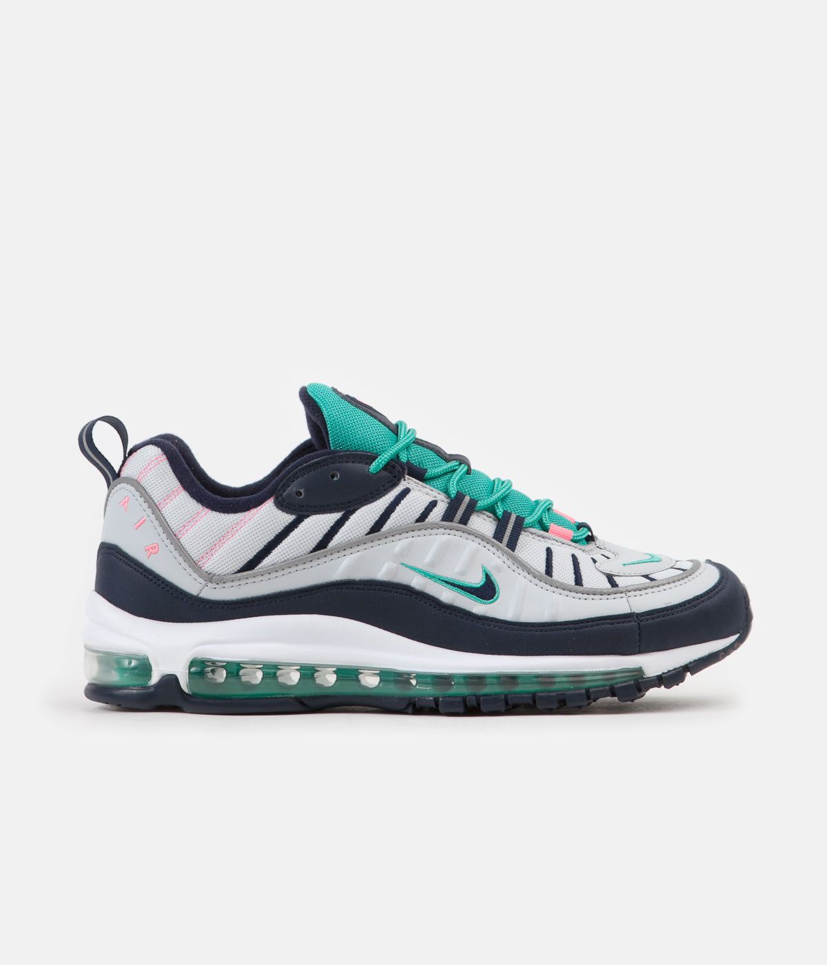 735850fa54 ... Nike Air Max 98 Shoes - Pure Platinum / Obsidian - Kinetic Green ...