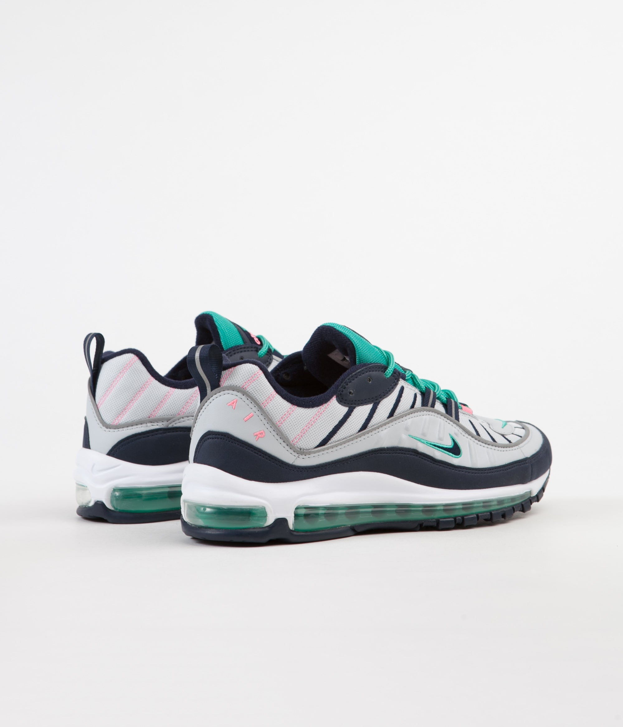 new concept b6cab 7e86a Nike Air Max 98 Shoes - Pure Platinum / Obsidian - Kinetic ...