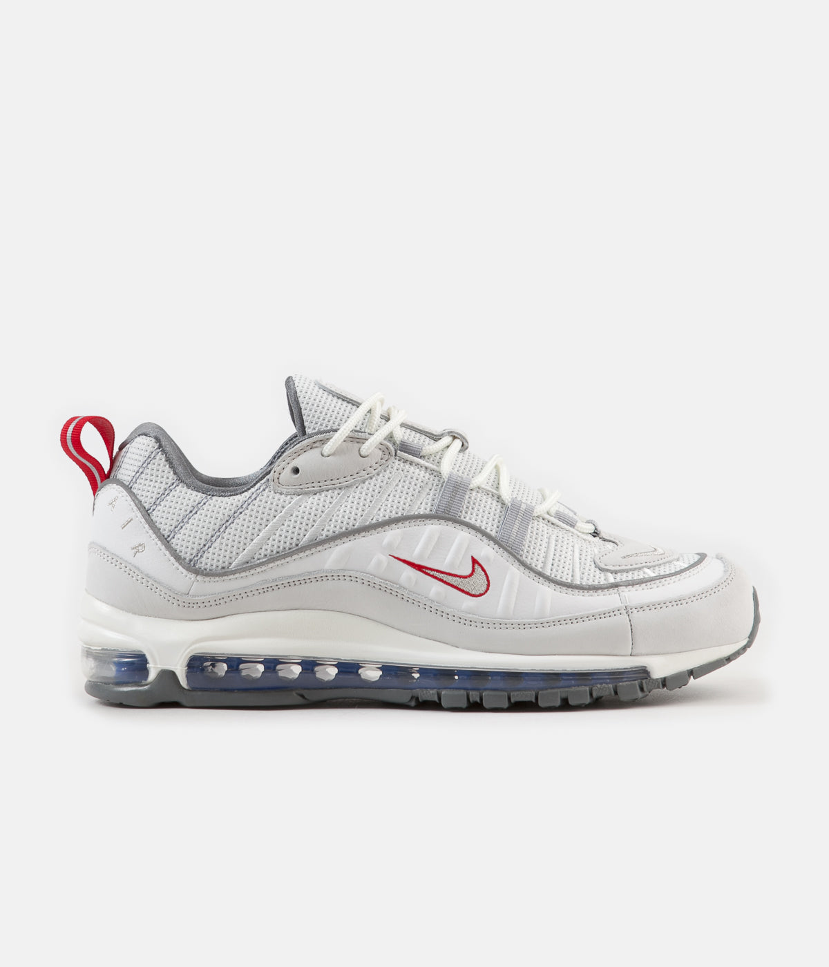 db14df3a1346 ... Nike Air Max 98 Shoes - Summit White   Metallic Silver ...