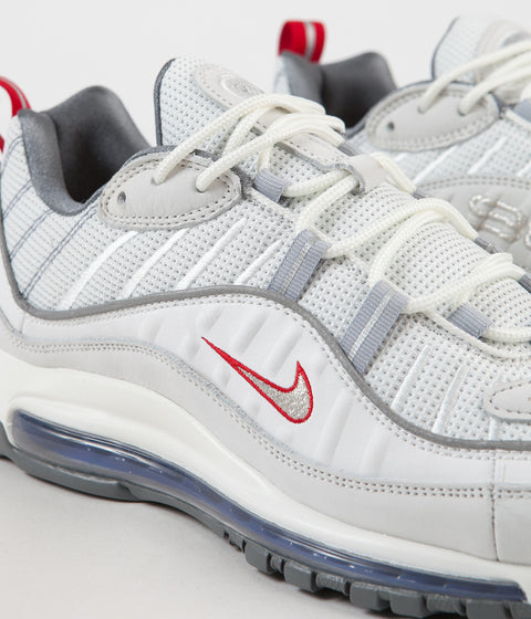 c2e2fb2349 Nike Air Max 98 Shoes - Summit White / Metallic Silver | Always in ...