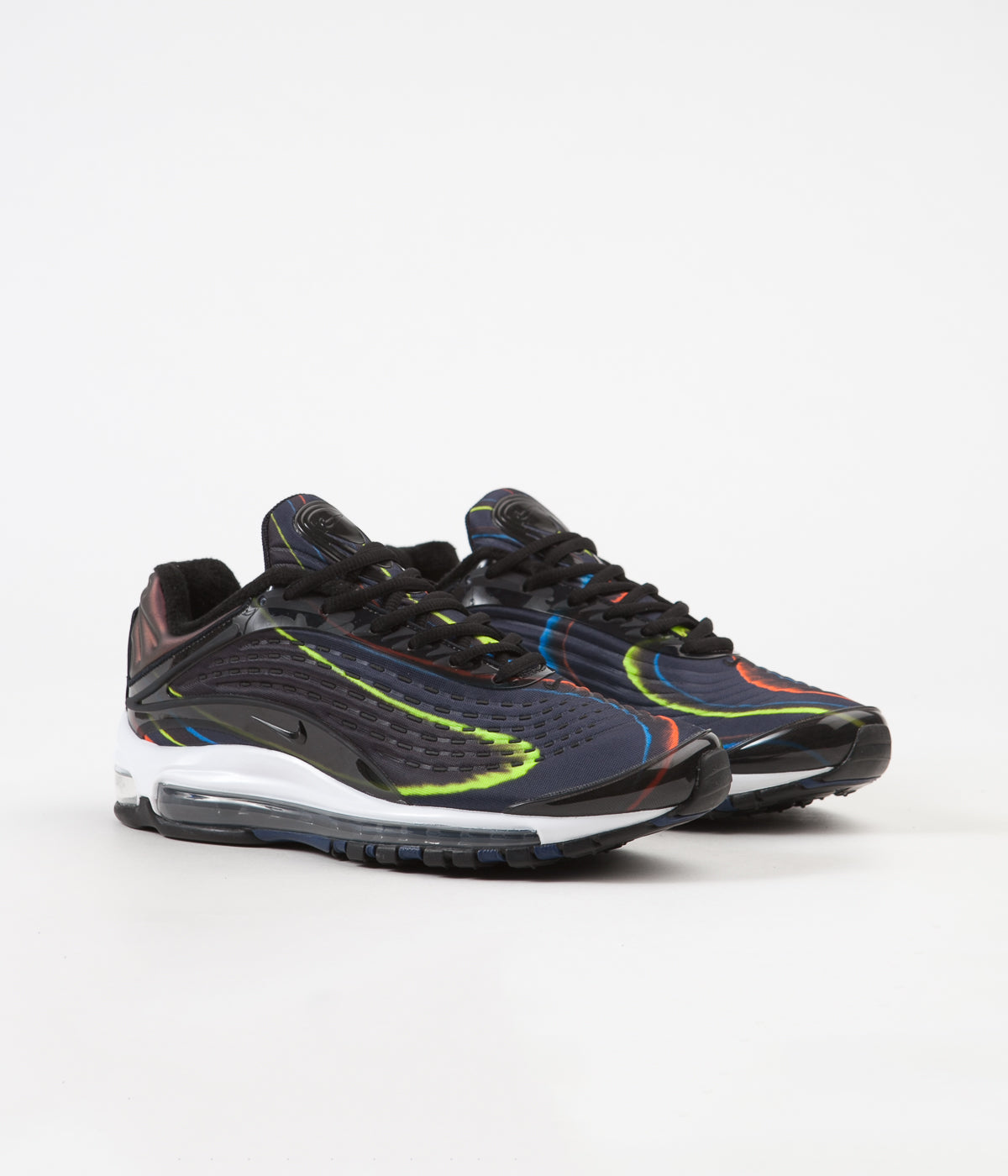 6fbf95e59c1aaa ... Nike Air Max Deluxe Shoes - Black   Black - Midnight Navy - Reflect  Silver ...