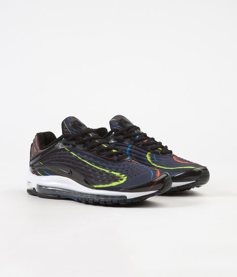 Nike Air Max Deluxe Shoes - Black / Black - Midnight Navy - Reflect Silver