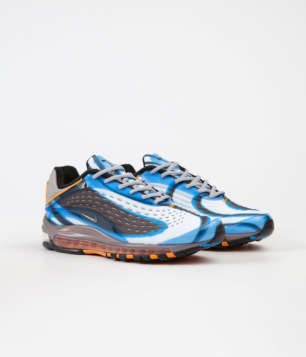 Nike Air Max Deluxe Shoes - Photo Blue / Wolf Grey - Orange Peel - Black