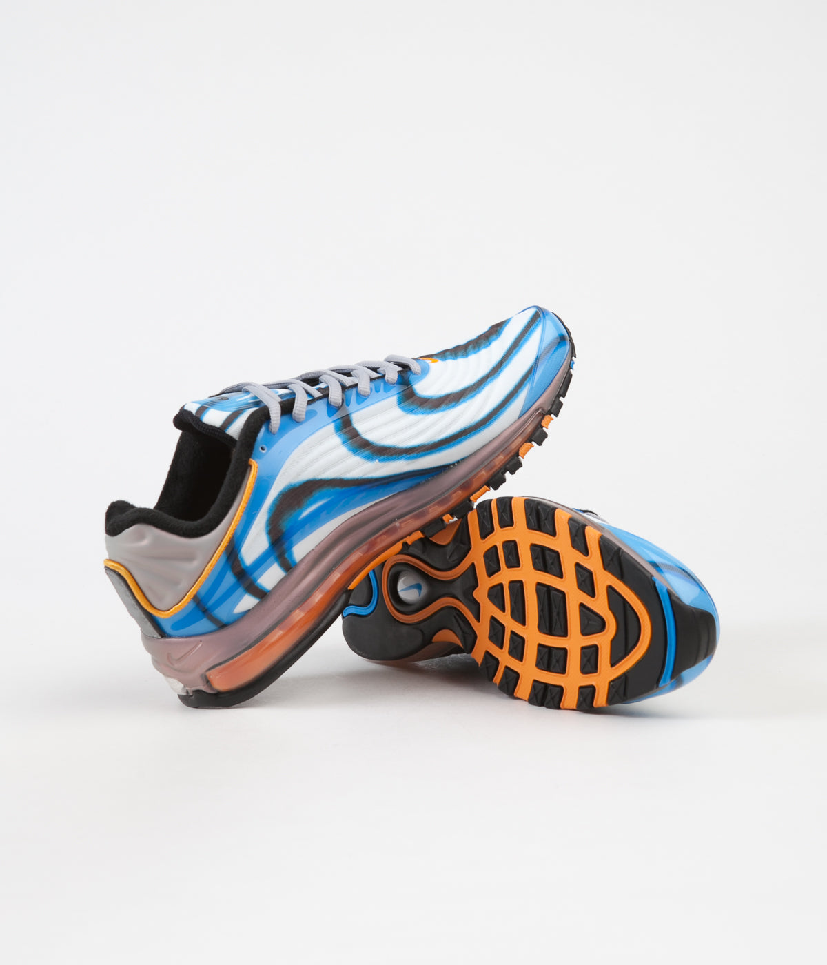 ... Nike Air Max Deluxe Shoes - Photo Blue   Wolf Grey - Orange Peel -  Black ... e4ba6bff3bc19