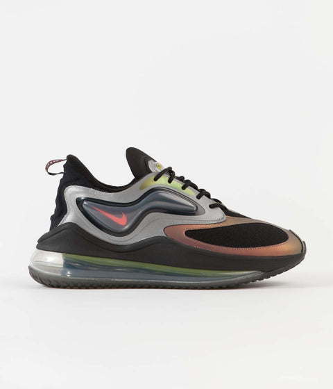 Nike Air Max Zephyr EOI Shoes - Metallic Silver / Bright Crimson - Black