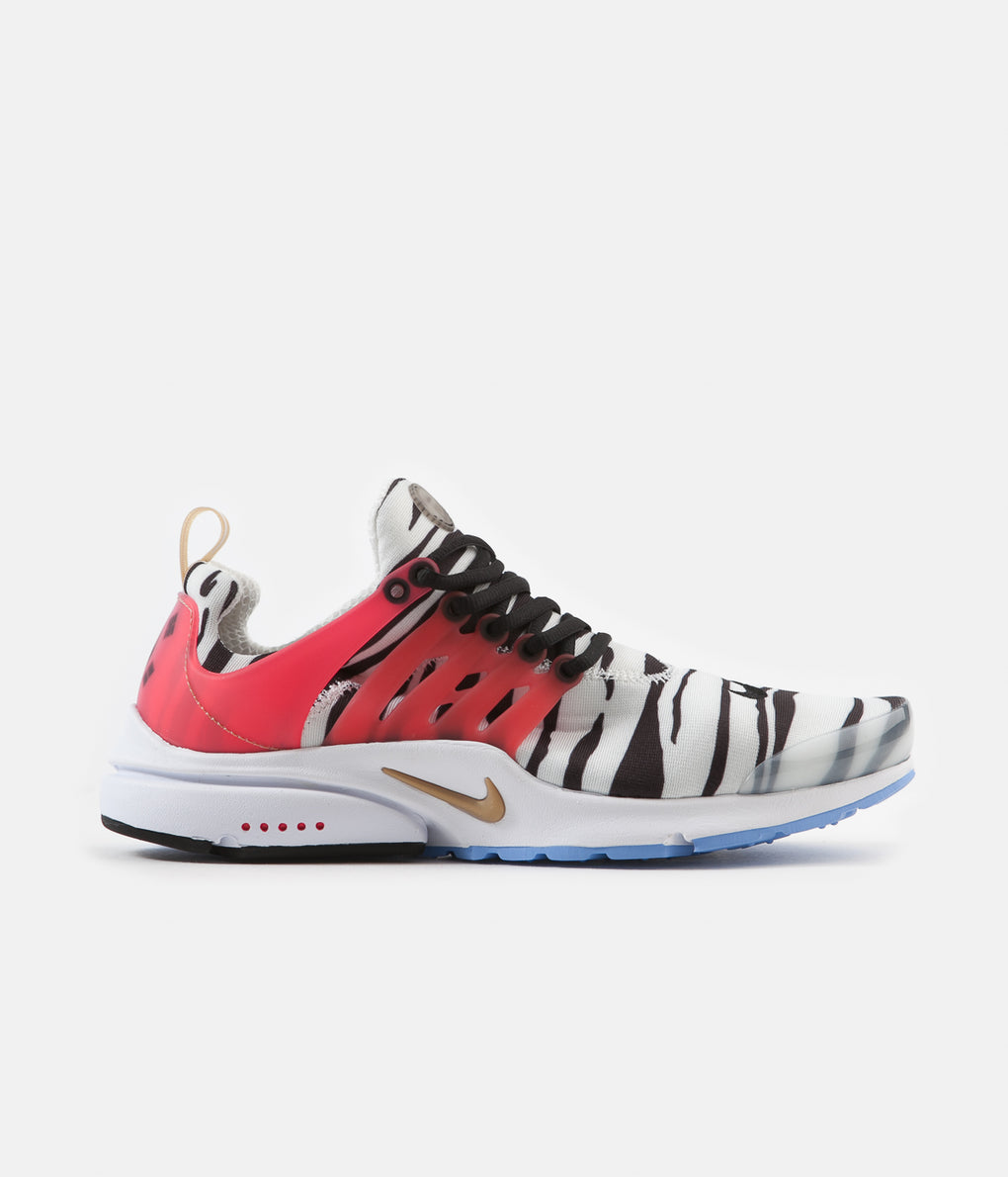 Nike Air Presto Shoes - White / Metallic Gold - Black - Red Orbit