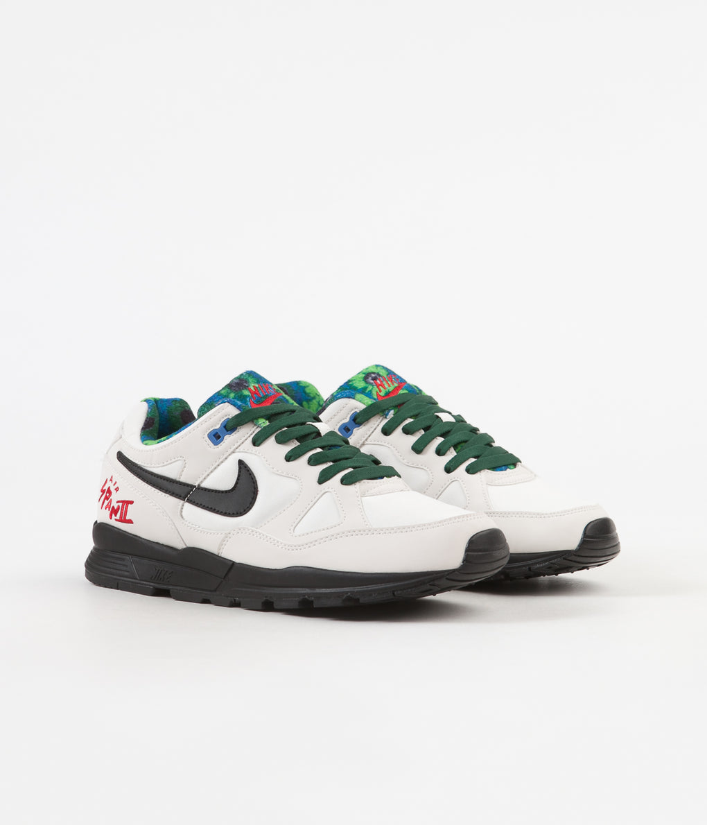Nike Air Span II SE Shoes - Phantom / Black - Mountain Blue - Fir