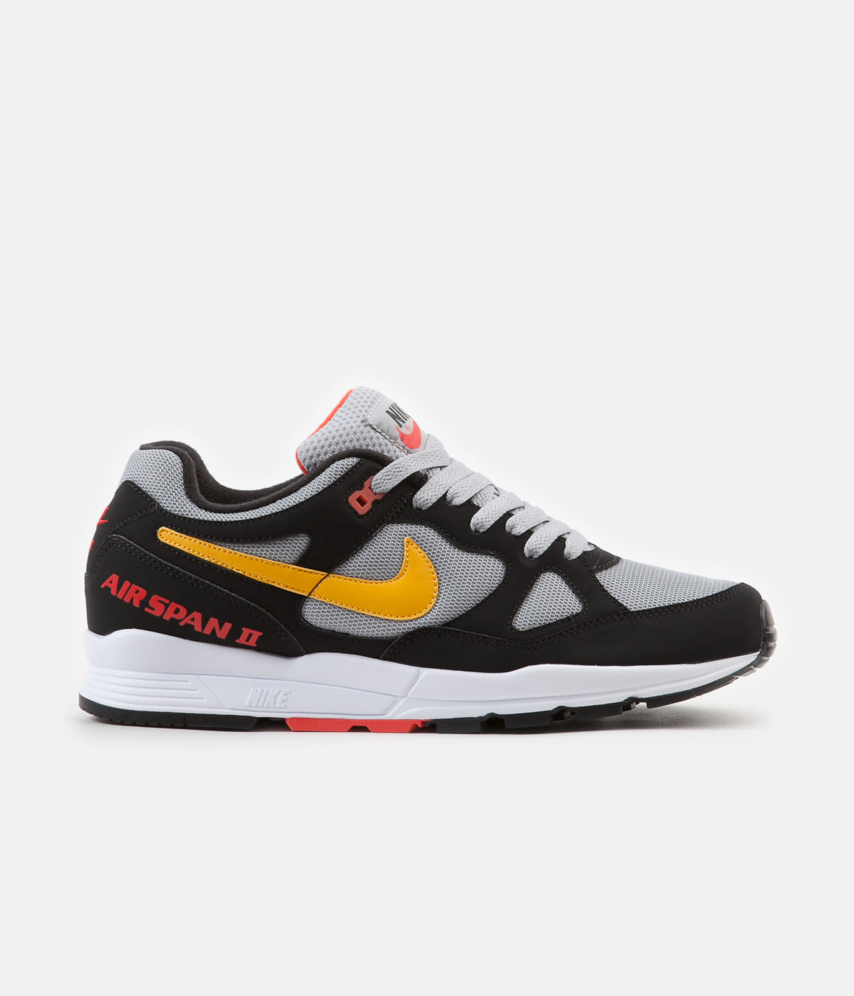 sale retailer ca8f0 6d899 ... Nike Air Span II Shoes - Black   Yellow Ochre - Wolf Grey ...