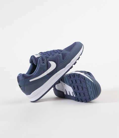 Nike Air Span II Shoes - Diffused Blue / White - Blue Recall - Black