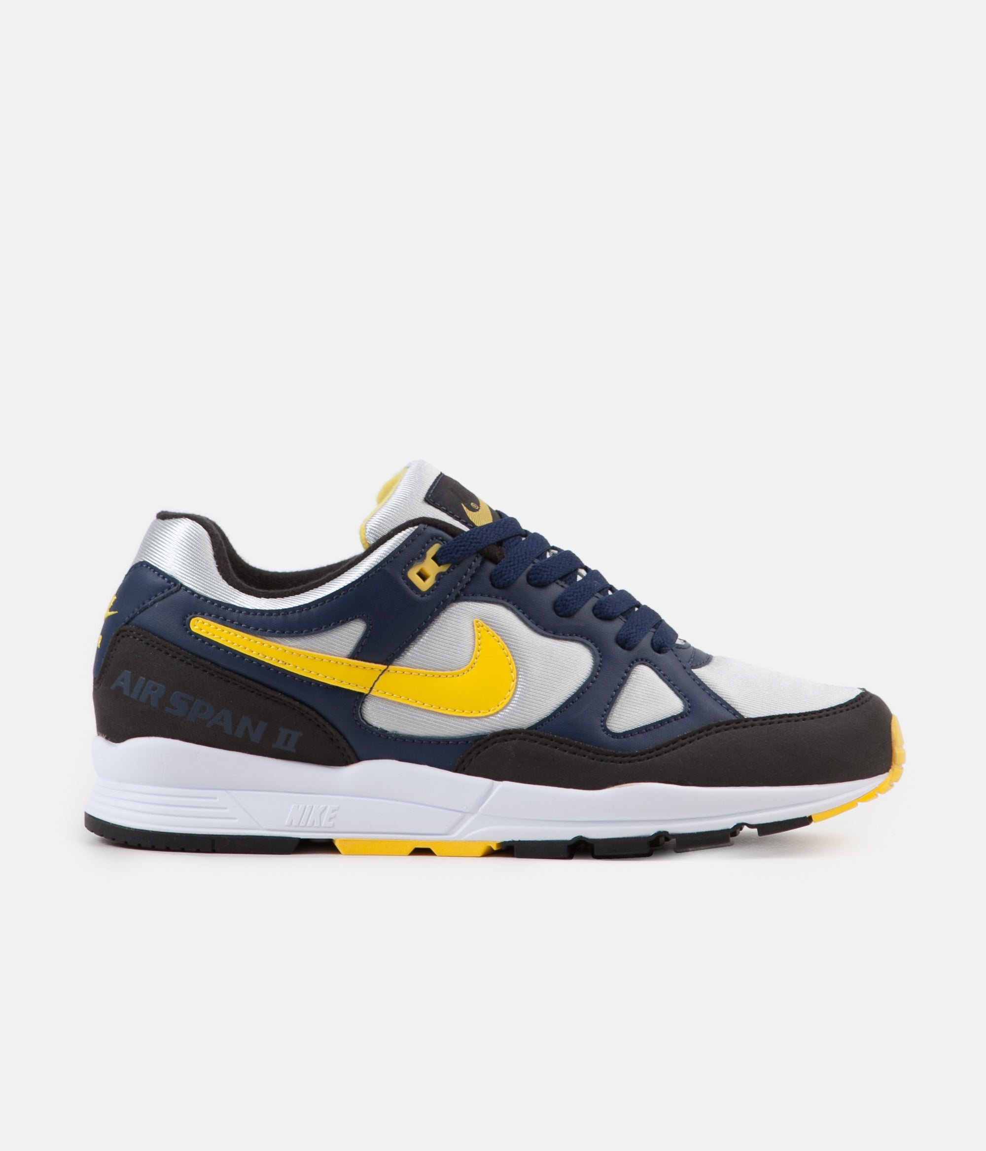 classic fit 3f022 a5a37 ... Nike Air Span II Shoes - Midnight Navy  Tour Yellow - Black ...