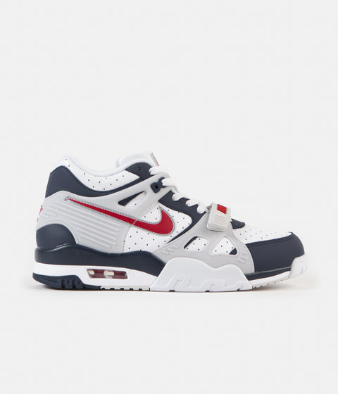 Nike Air Trainer 3 Shoes - Midnight Navy / University Red - White