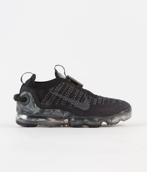 Nike Air Vapormax 2020 Flyknit Shoes - Black / Dark Grey - Black