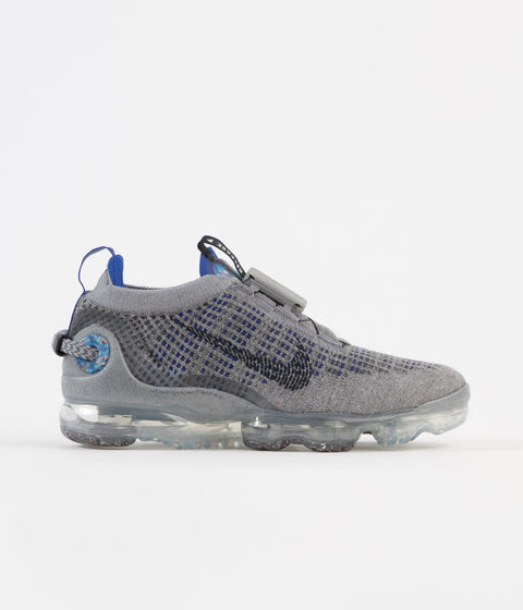 Nike Air Vapormax 2020 Flyknit Shoes - Particle Grey / Dark Obsidian - Racer Blue