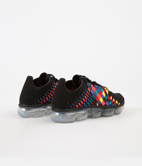 Nike Air VaporMax Inneva Shoes - Black / Black - Glacier Blue - Laser Orange