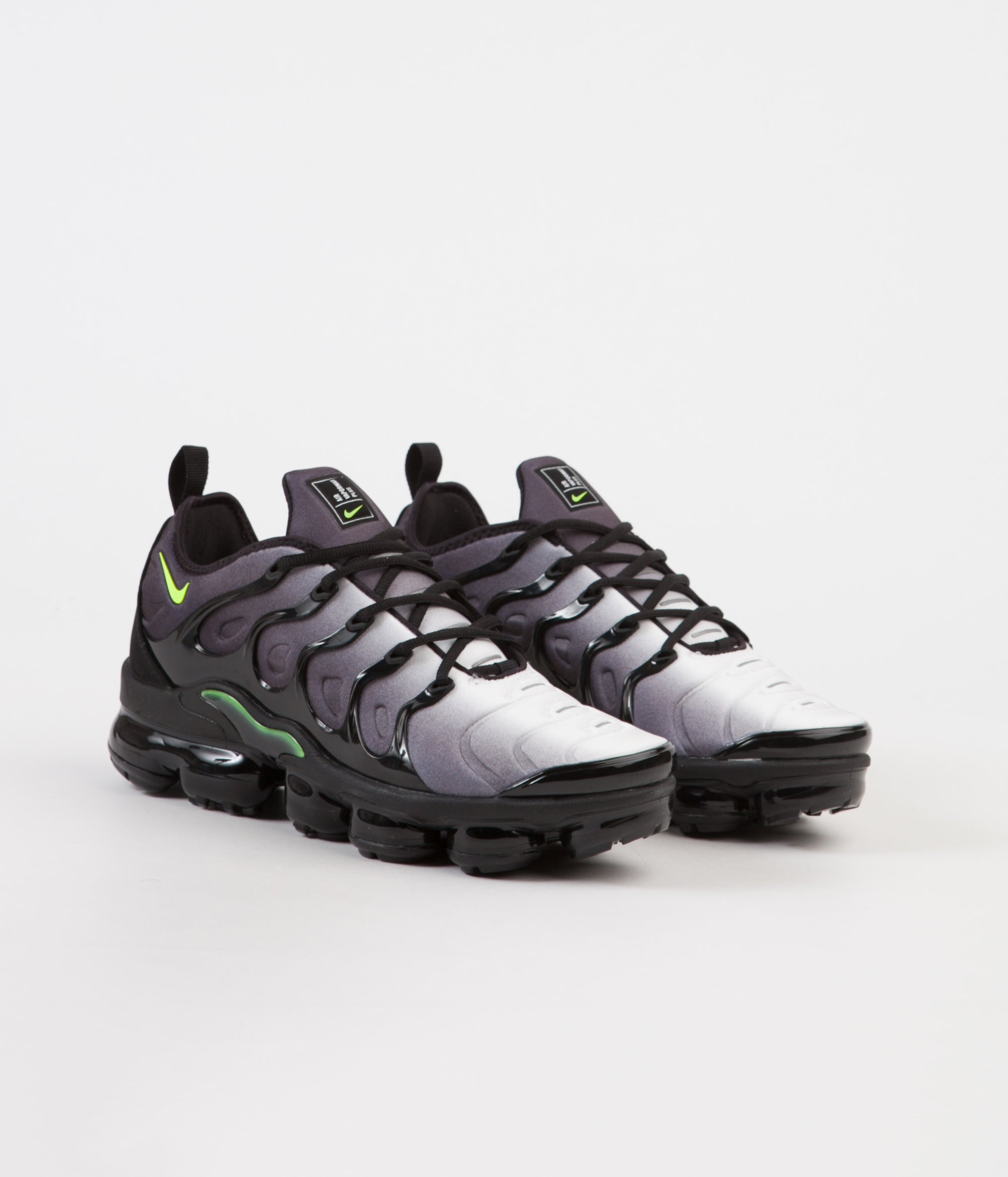 a10cd9db1663 ... Nike Air VaporMax Plus Shoes - Black   Volt - White ...