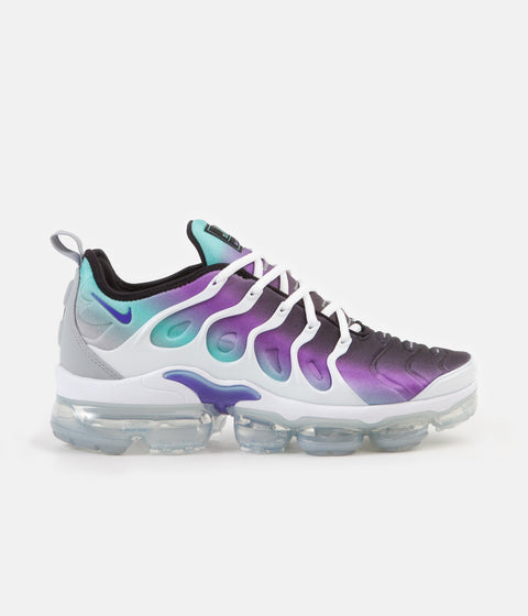 Nike Air VaporMax Plus Shoes - White / Fierce Purple - Aurora Green - Black