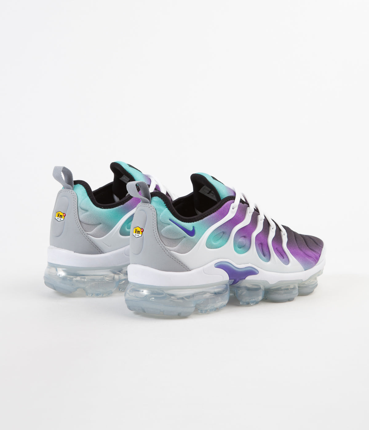 timeless design c8252 59e04 Nike Air VaporMax Plus Shoes - White / Fierce Purple - Aurora Green - Black
