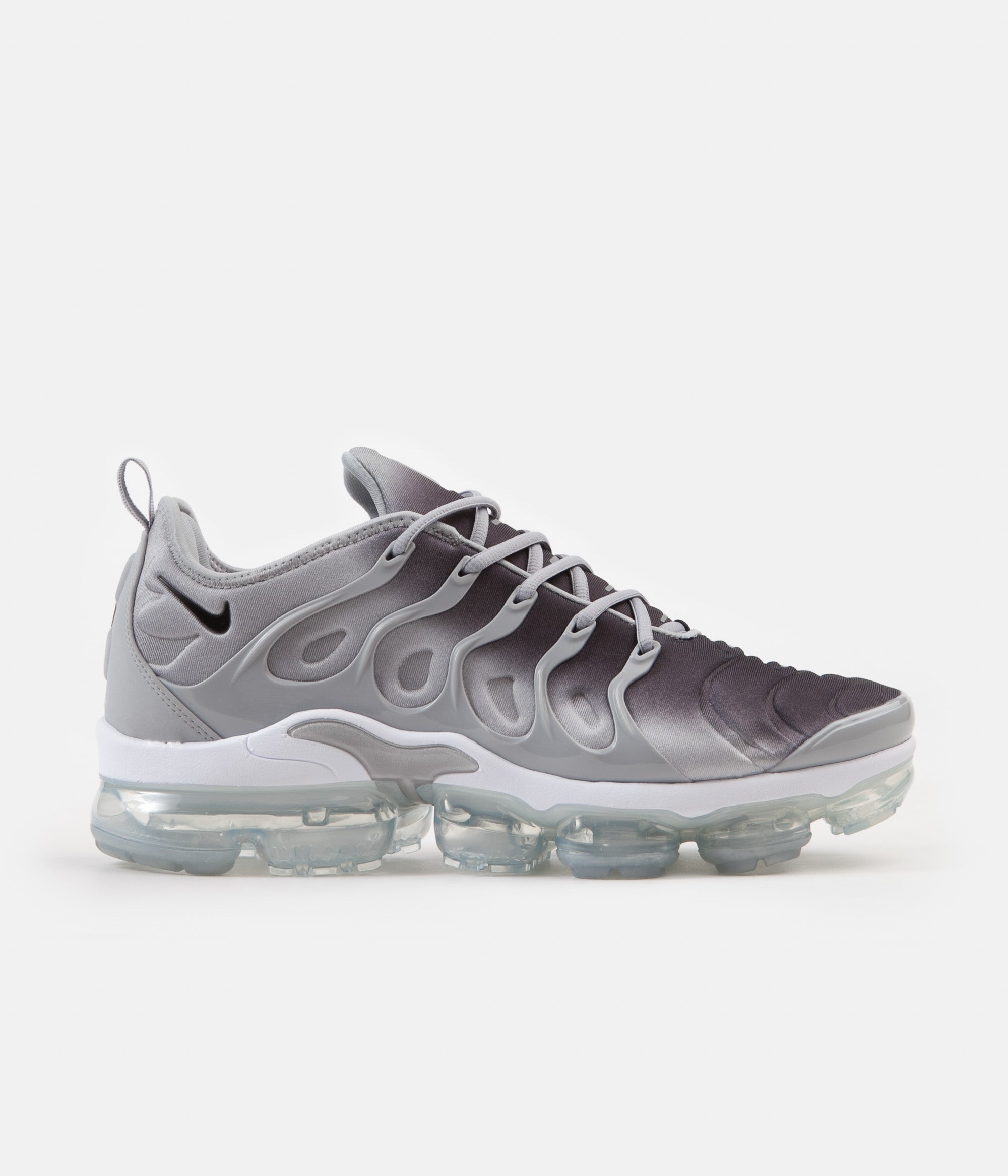 859c88855b833 ... Nike Air VaporMax Plus Shoes - Wolf Grey   Black - White ...