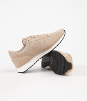 Nike Air Vortex Leather Shoes - Desert / Desert - Sail - Black