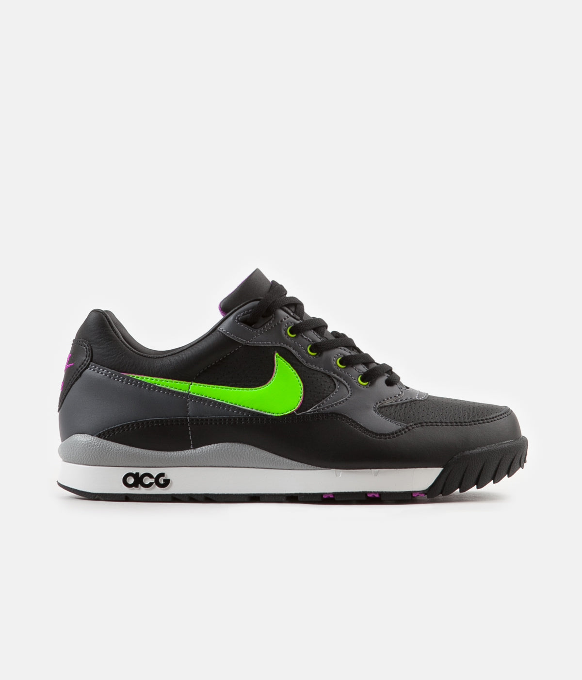 99386956a9bf1 ... Nike ACG Air Wildwood Shoes - Black   Electric Green - Hyper Violet ...