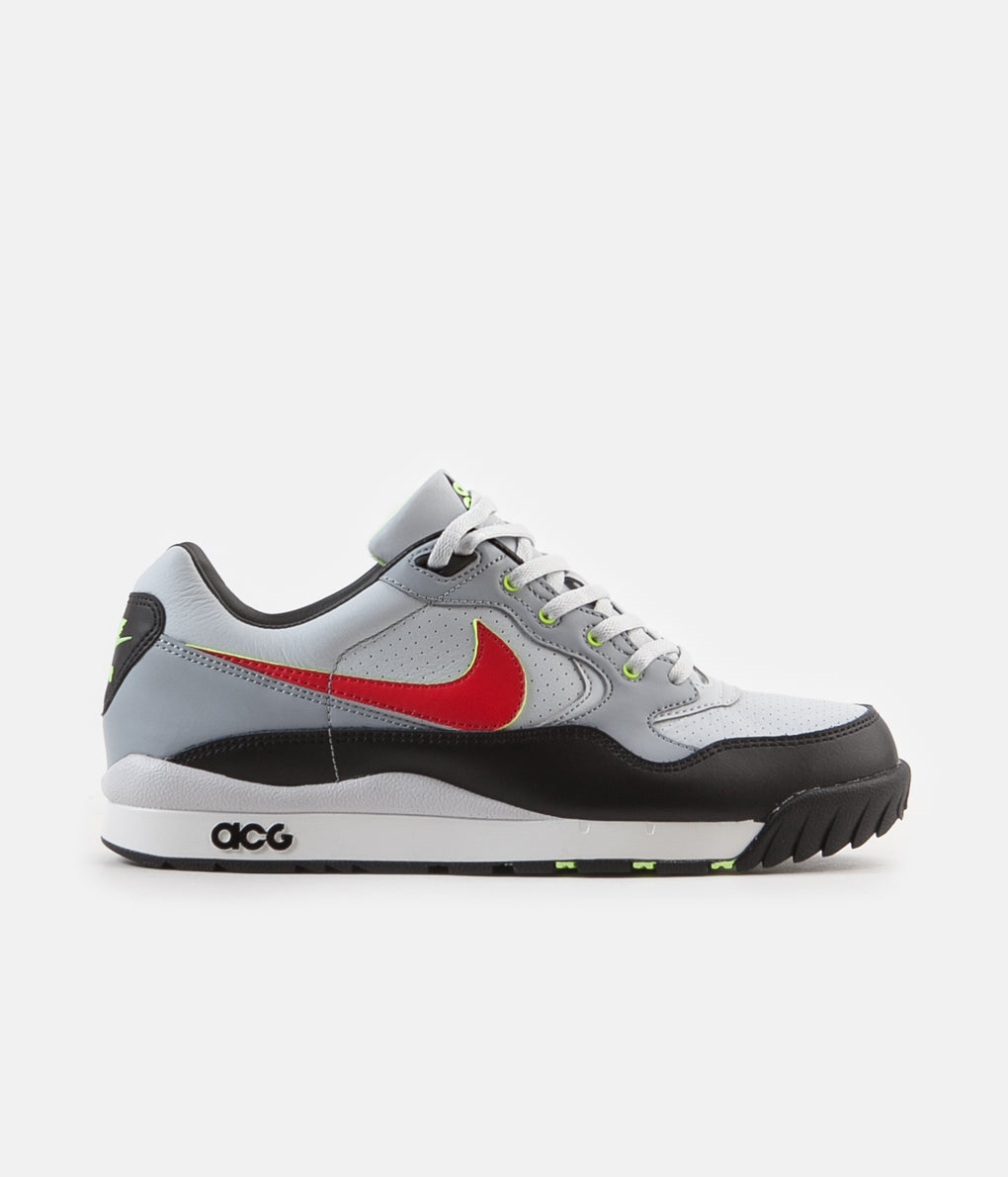 Nike ACG Air Wildwood Shoes - Pure Platinum / Comet Red - Mist Blue - Black
