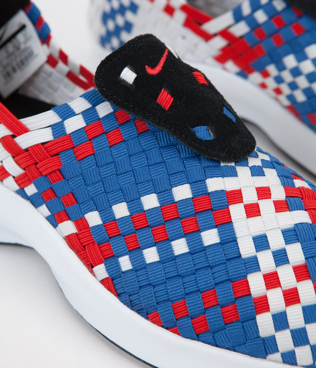 Nike Air Woven Shoes - Black / Rush Red - Blue Jay - Sail
