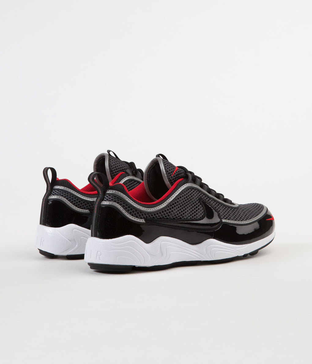 Nike Air Zoom Spiridon '16 Shoes - Black / Black - University Red - White