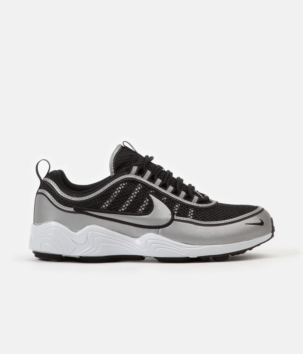 7db4cd247066 ... Nike Air Zoom Spiridon  16 Shoes - Black   Metallic Silver - Metallic  Silver ...