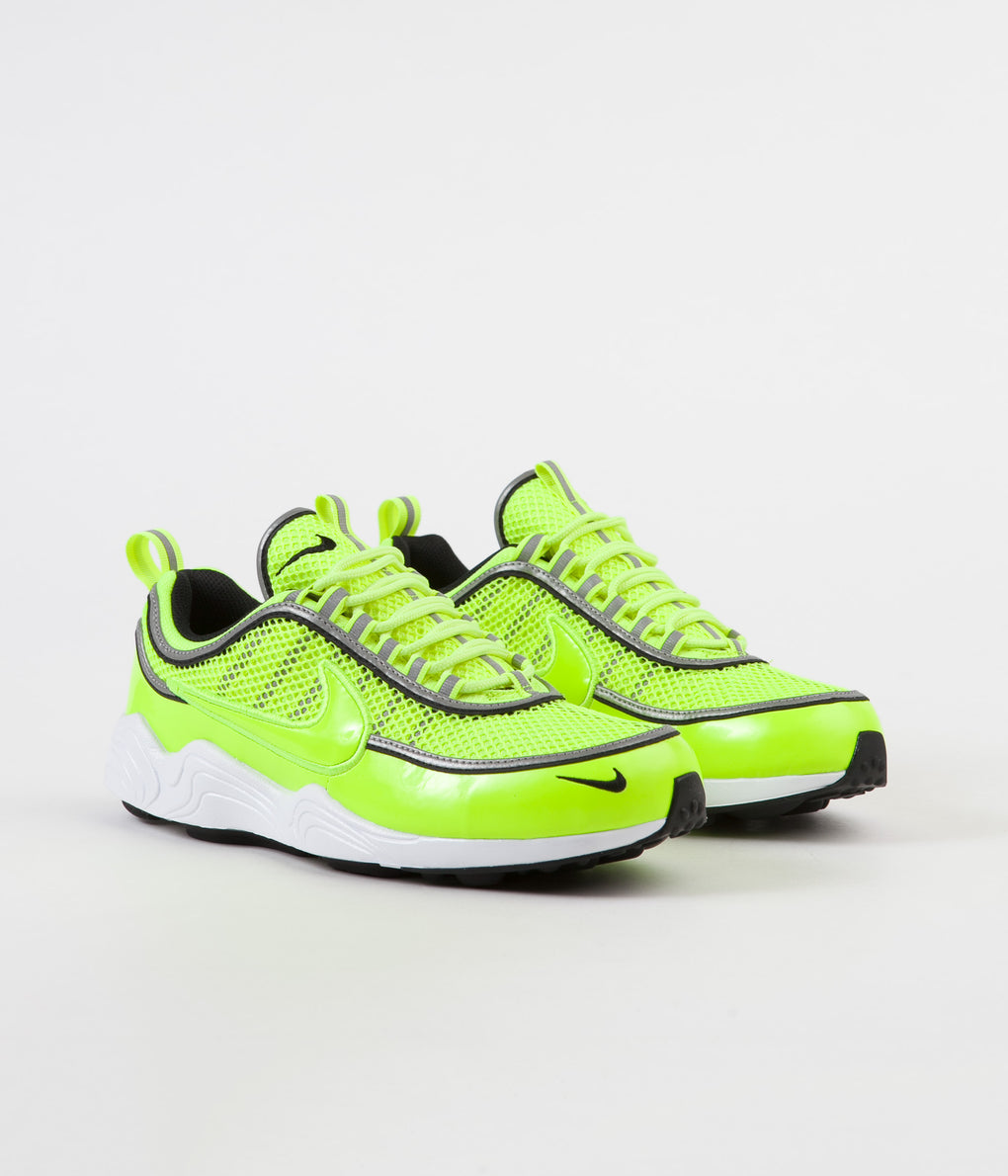 Nike Air Zoom Spiridon '16 Shoes - Volt / Volt Tint - White - Black