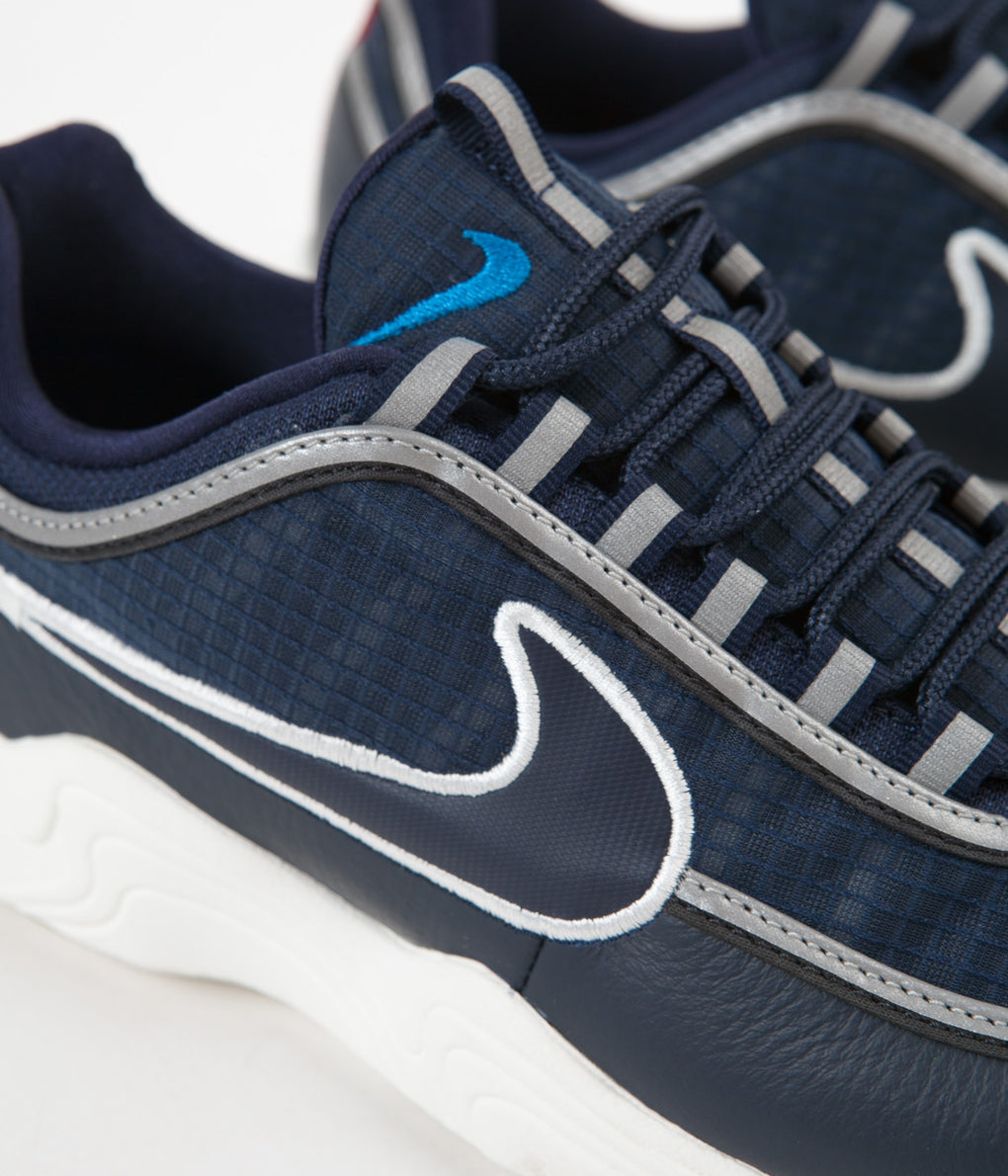 Nike Air Zoom Spiridon SE Shoes -  Obsidian / Sail - Blue Nebula - Dark Grey