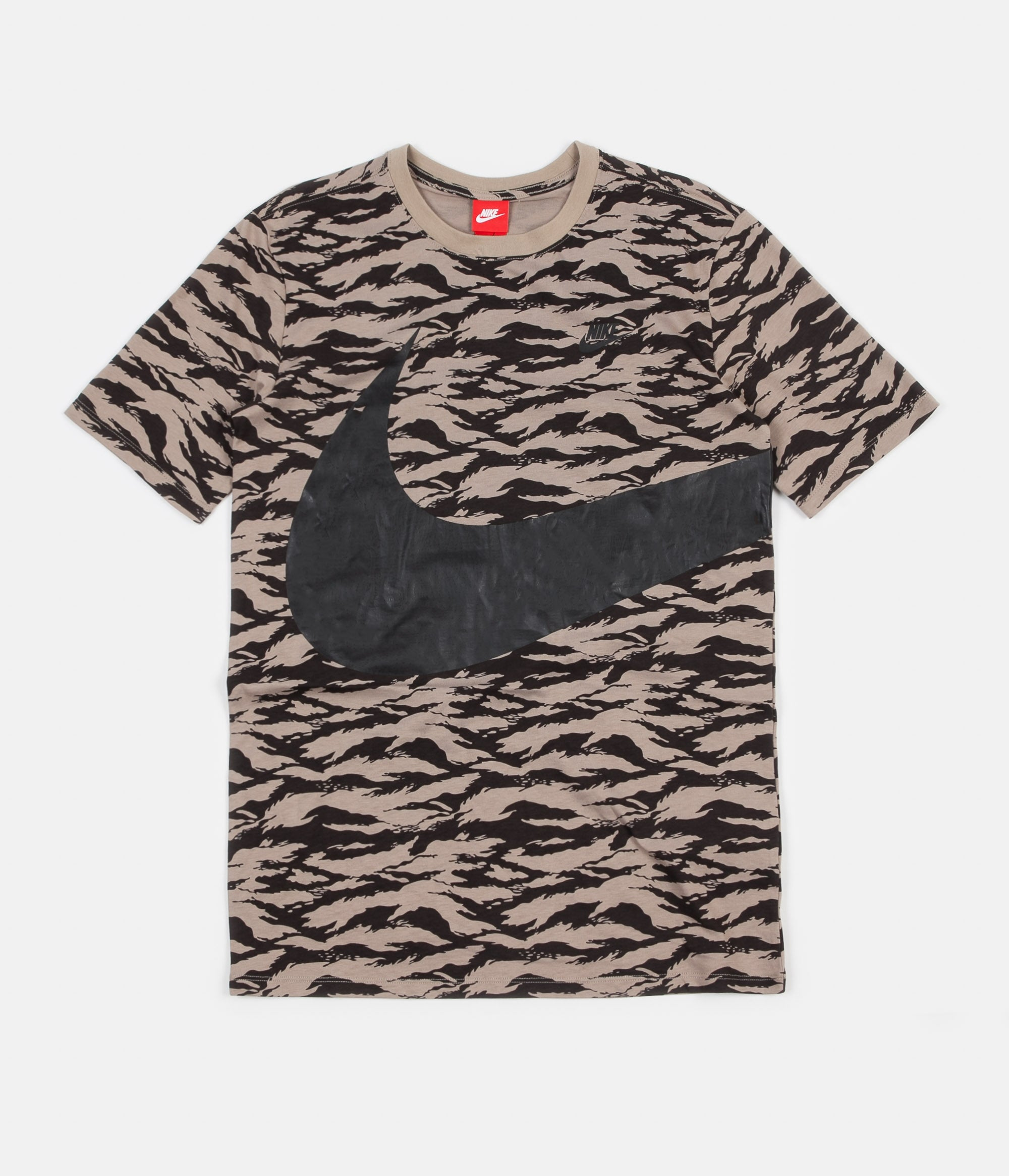 b633970b Nike AOP VW Swoosh T-Shirt - Khaki / Black / Black | Always in Colour